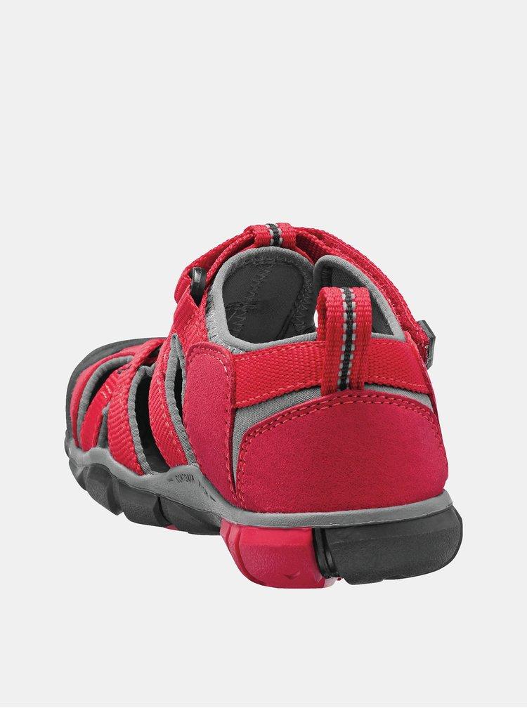 Červené dětské sandály Keen Seacamp II CNX Jr