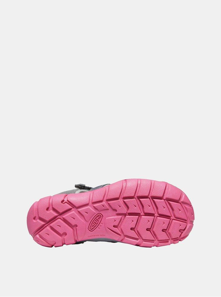 Růžovo-šedé holčičí sandály Keen Seacamp II CNX Y