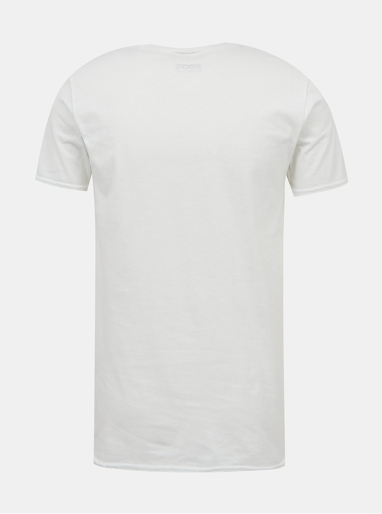 Bílé unisex tričko ZOOT Original Černý Petr