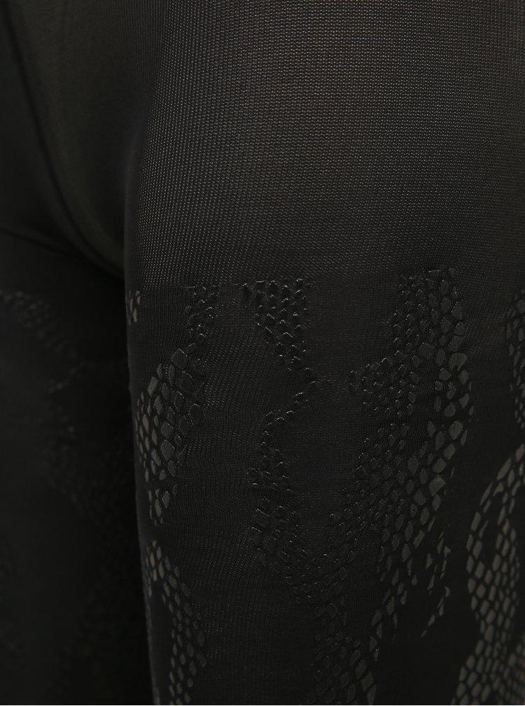 Černé 3/4 legíny s hadím vzorem Marie Claire