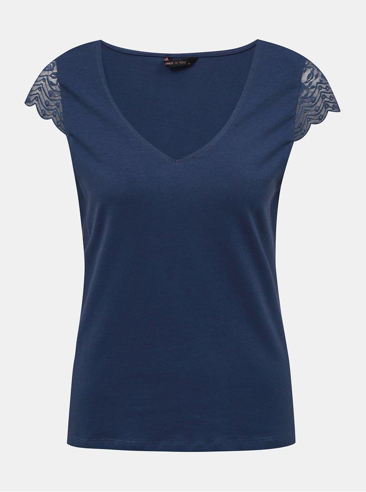 Modré tričko ONLY Faith