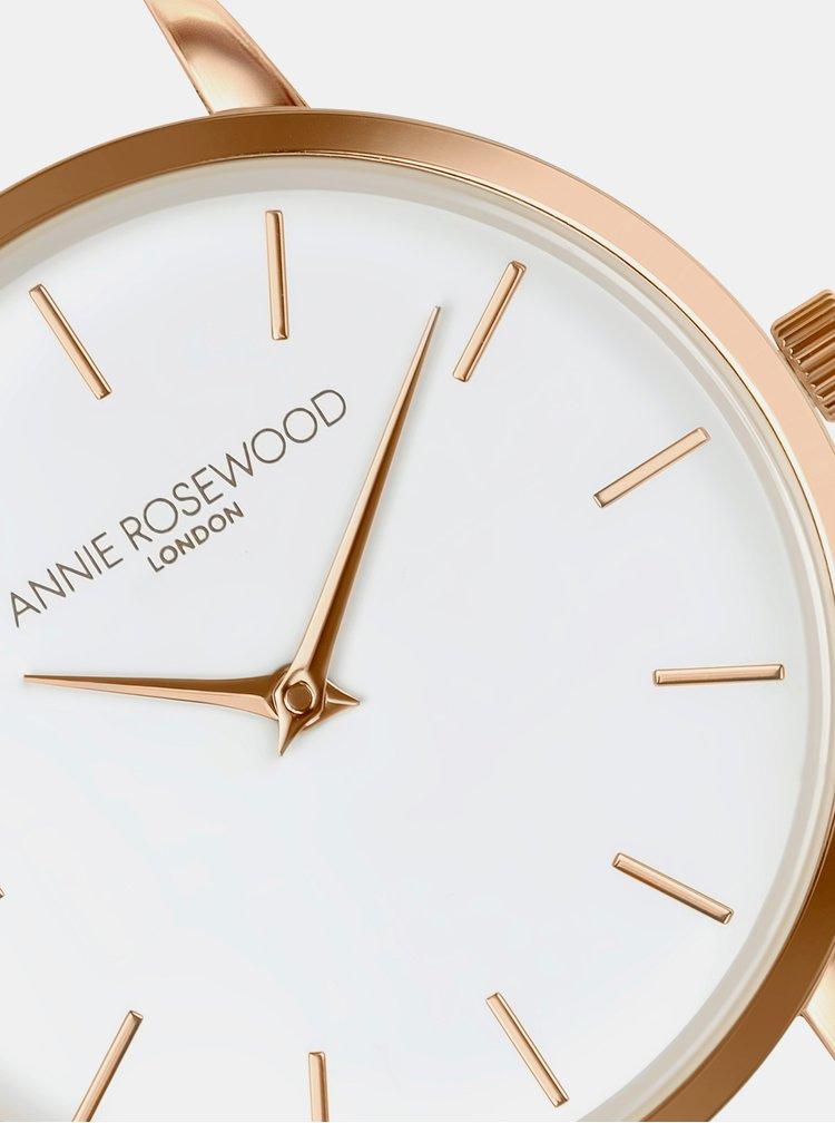 Dámske hodinky s šedým koženým remienkom Annie Rosewood