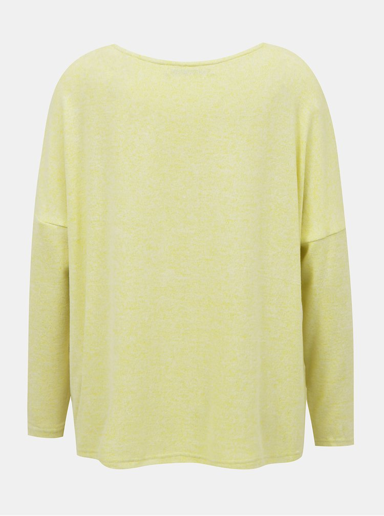 Světle žlutý volný svetr ONLY