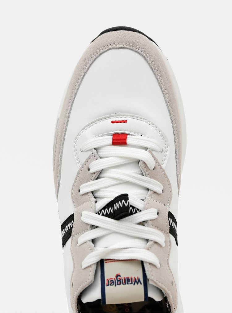 Šedo-bílé pánské kožené tenisky Wrangler