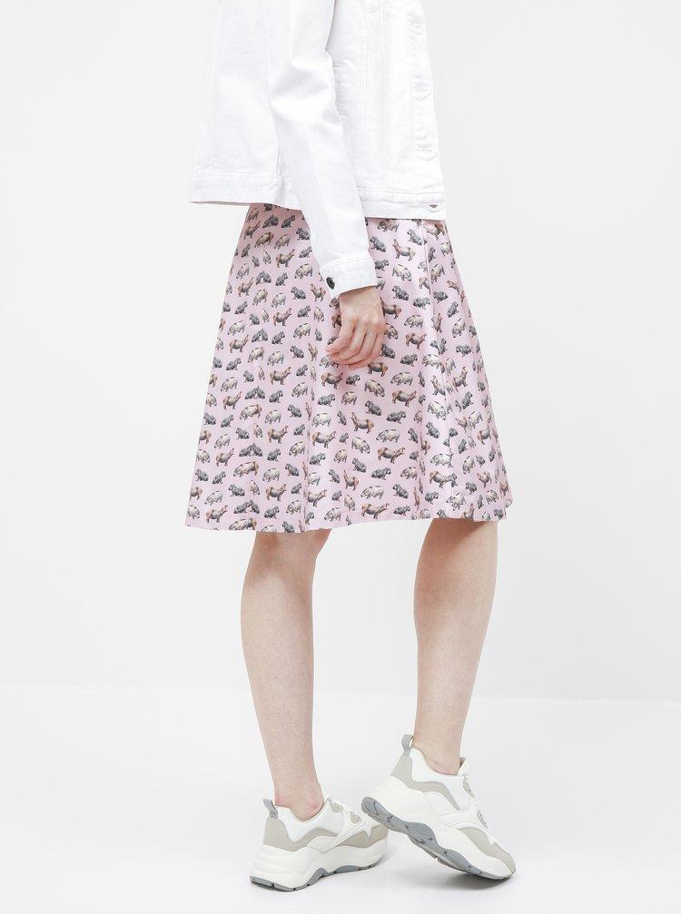 Růžová sukně s motivem hrocha annanemone