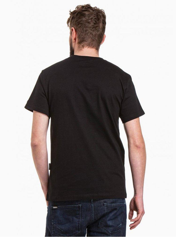 Černé pánské tričko NUGGET Biscuit