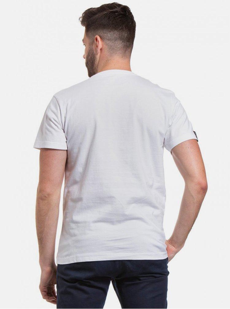 Bílé pánské tričko s potiskem Meatfly Bomb