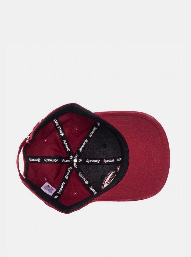 Šedo-vínová pánská kšiltovka s výšivkou Meatfly Sigma