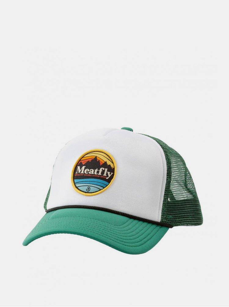Bílo-zelená pánská kšiltovka Meatfly Brisk