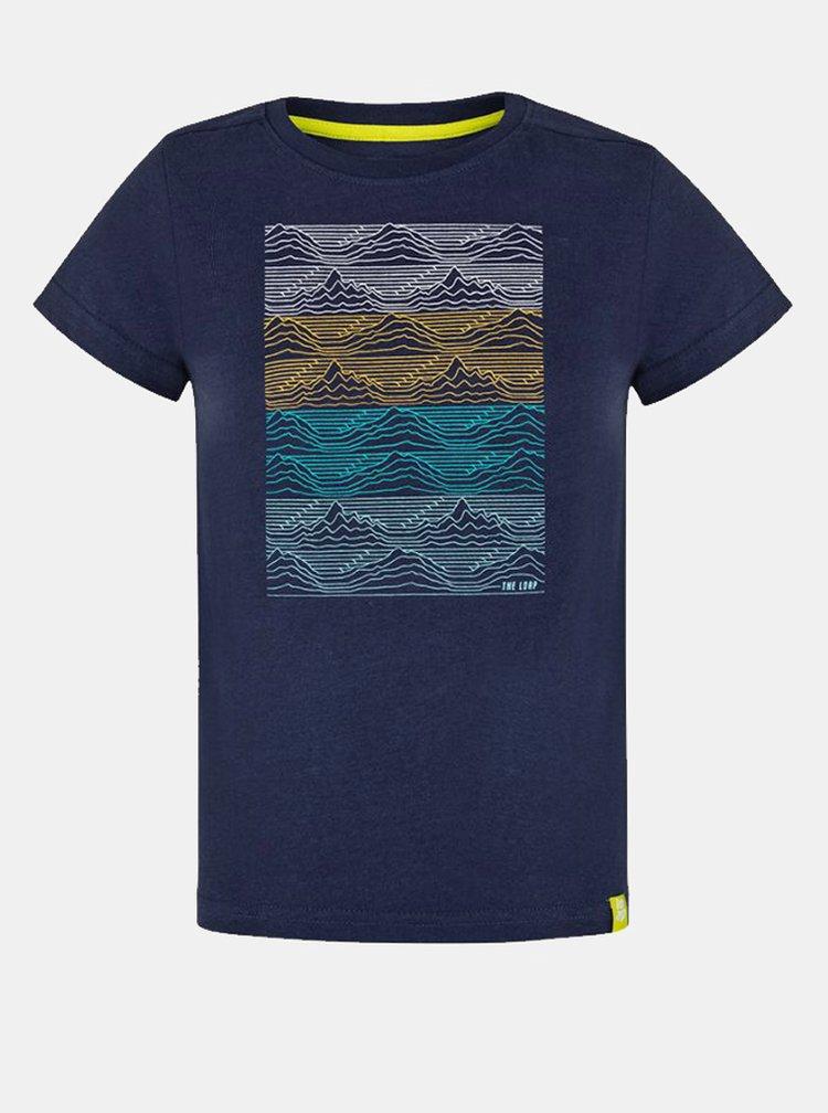 Tmavě modré klučičí tričko s potiskem LOAP Baris