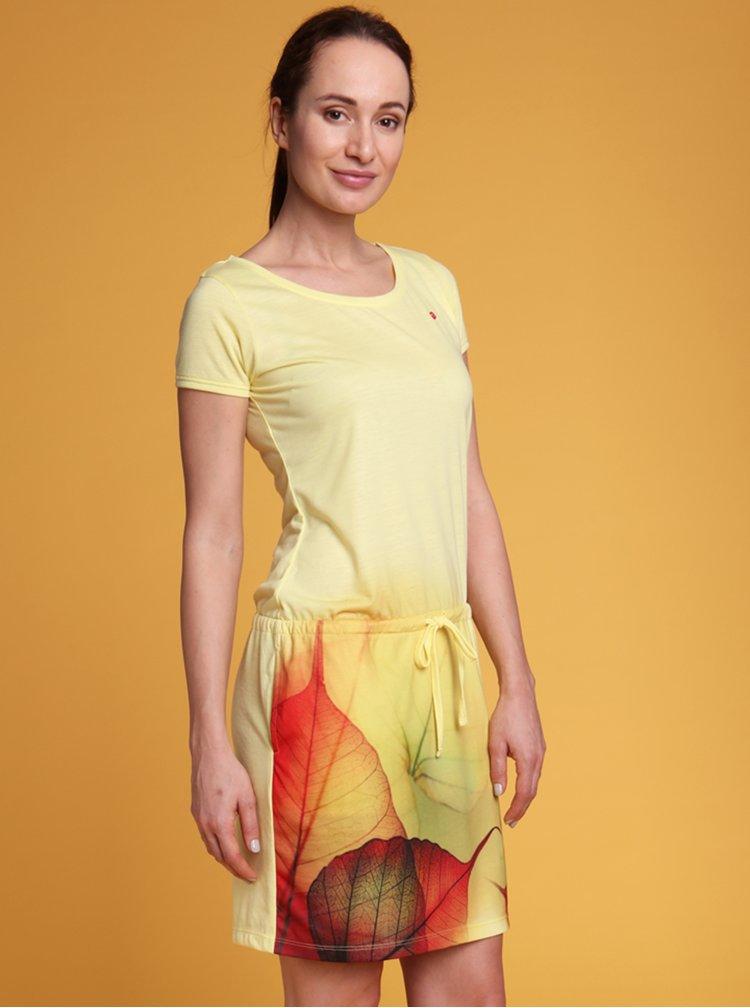 Žluté dámské vzorované šaty LOAP Alysa