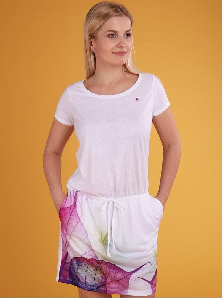 Bílé dámské vzorované šaty LOAP Alysa
