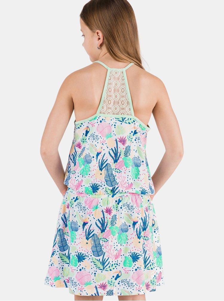 Růžovo-modré vzorované holčičí šaty SAM 73 Lemo