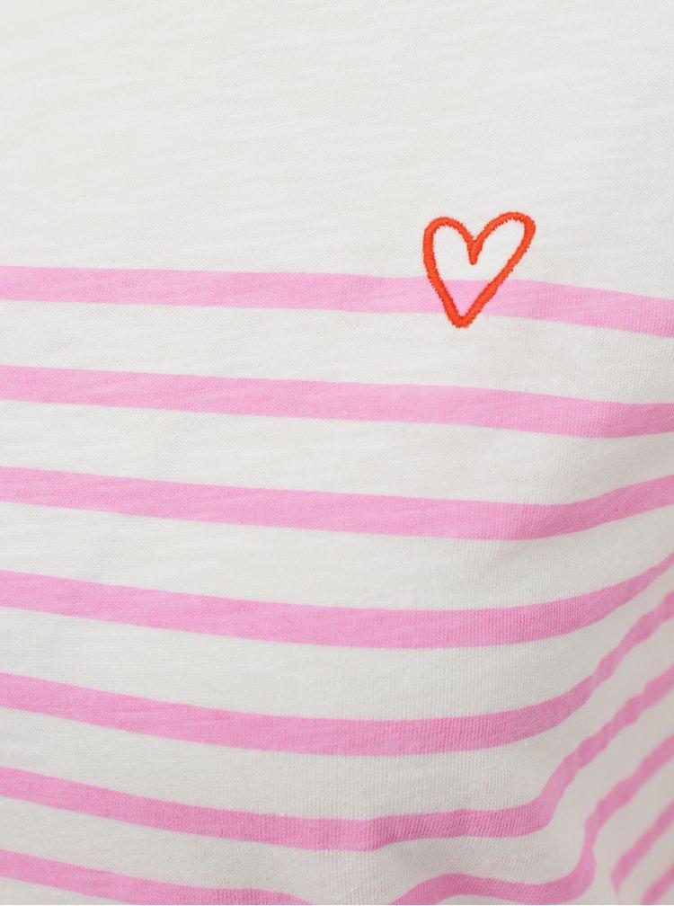 Růžovo-bílé dámské tričko Tom Tailor