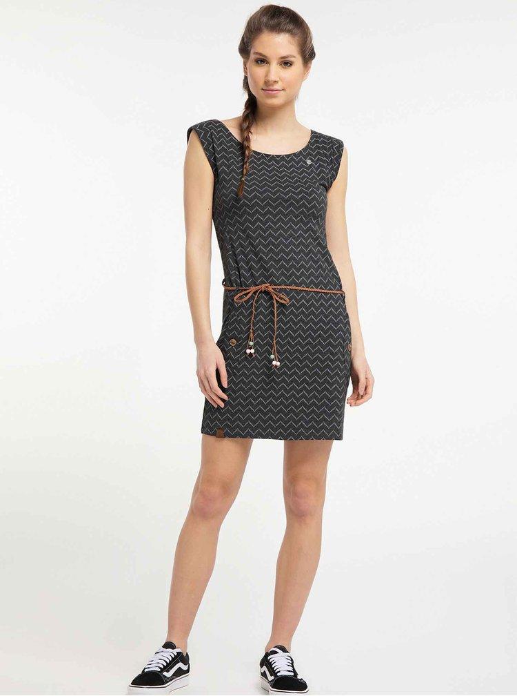Černé vzorované šaty Ragwear
