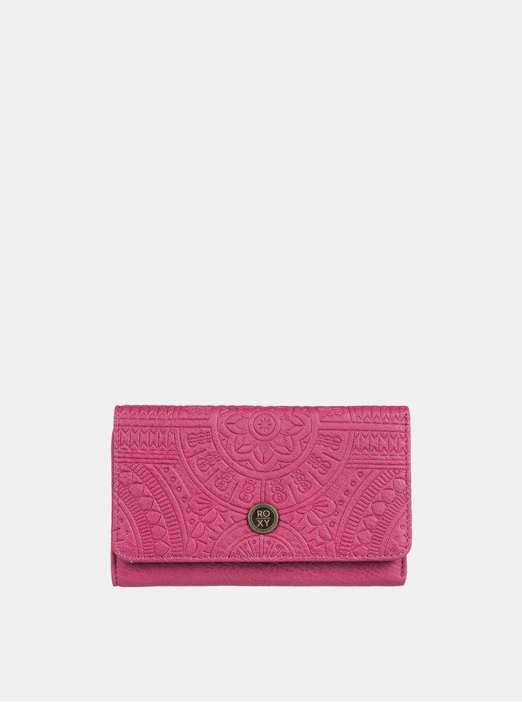Tmavě růžová peněženka Roxy