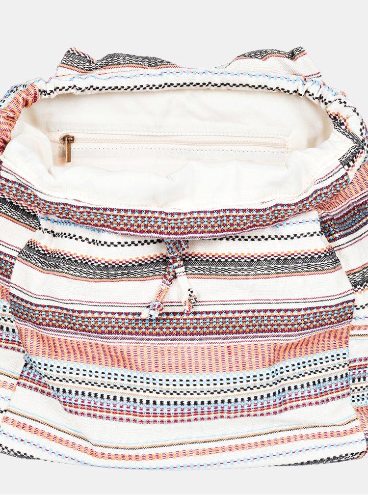 Krémový pruhovaný batoh Roxy