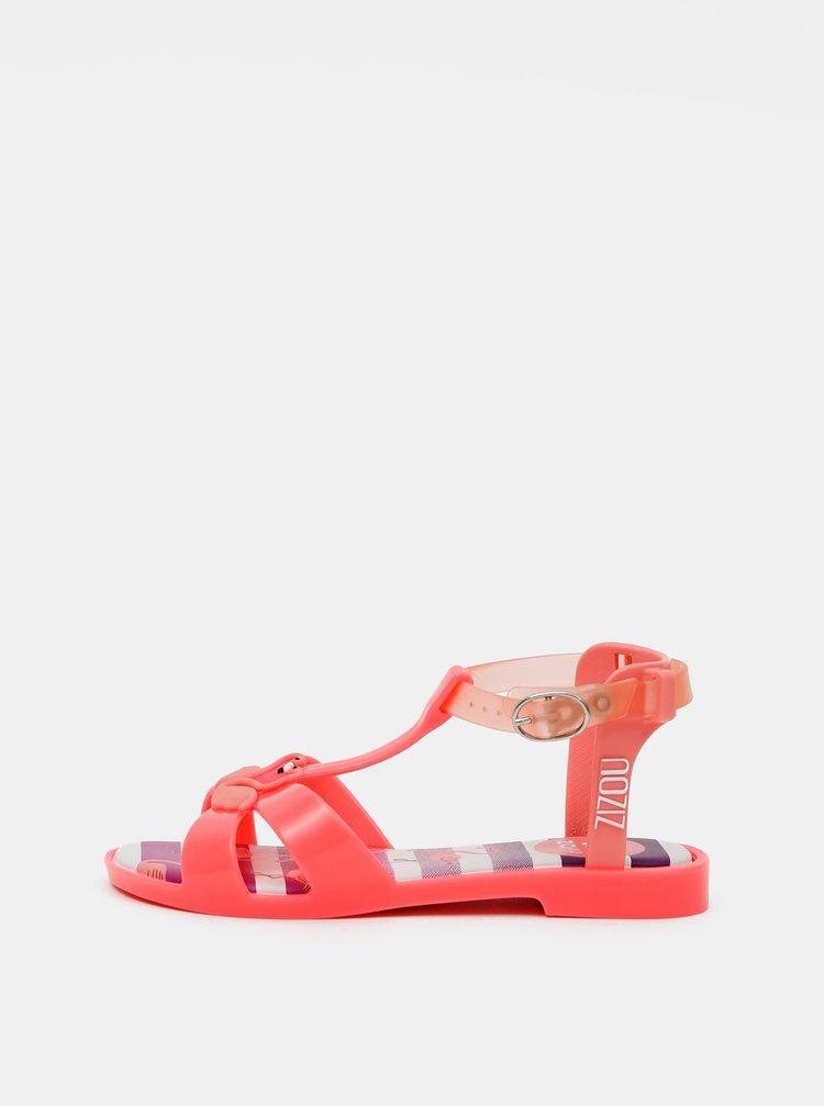 Růžové holčičí sandály Zaxy