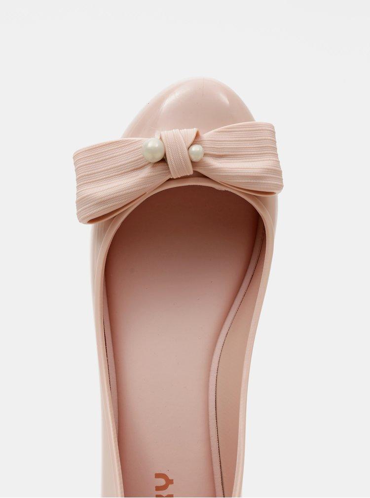 Starorůžové dámské baleríny Zaxy