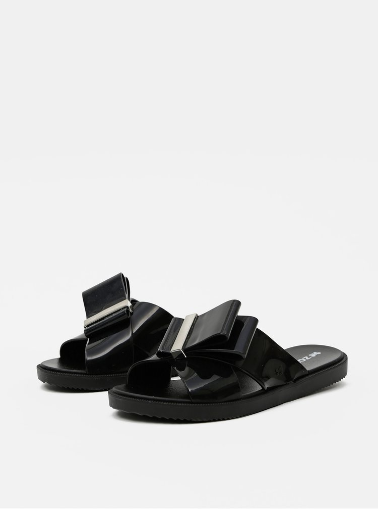 Černé dámské pantofle Zaxy