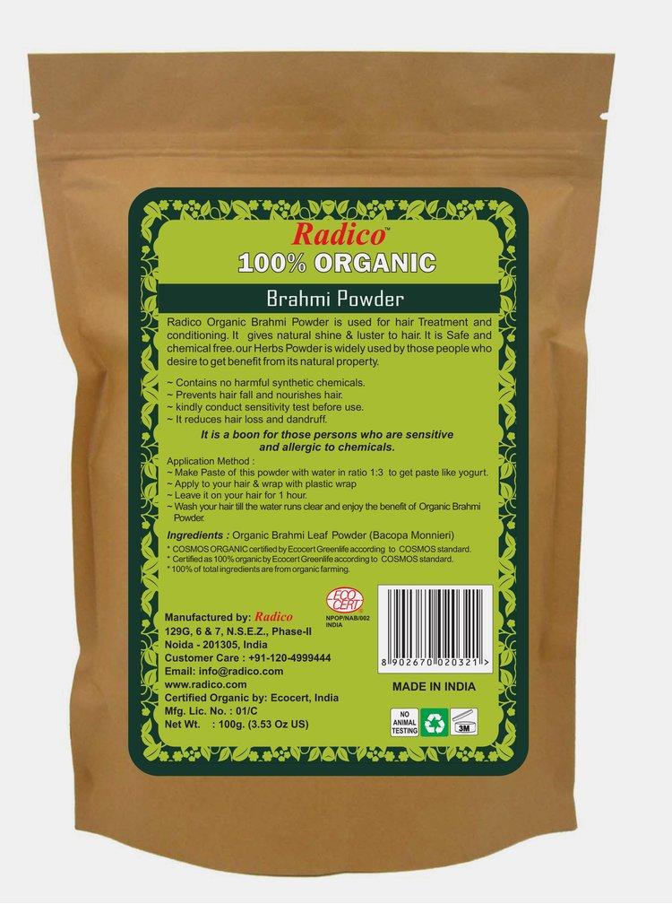 Bylinná kúra na vlasy BIO - Brahmi 100 g Radico