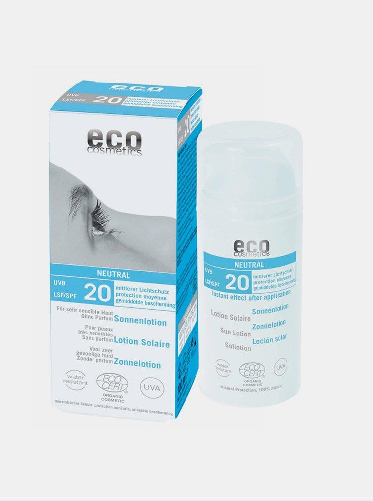Opalovací krém Neutral bez parfemace SPF 20 BIO 100 ml Eco Cosmetics