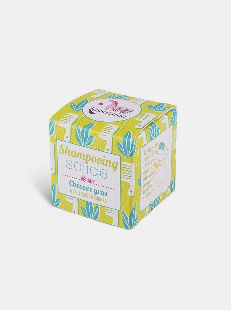Tuhý šampon pro mastné vlasy - citrón 55 g Lamzuna