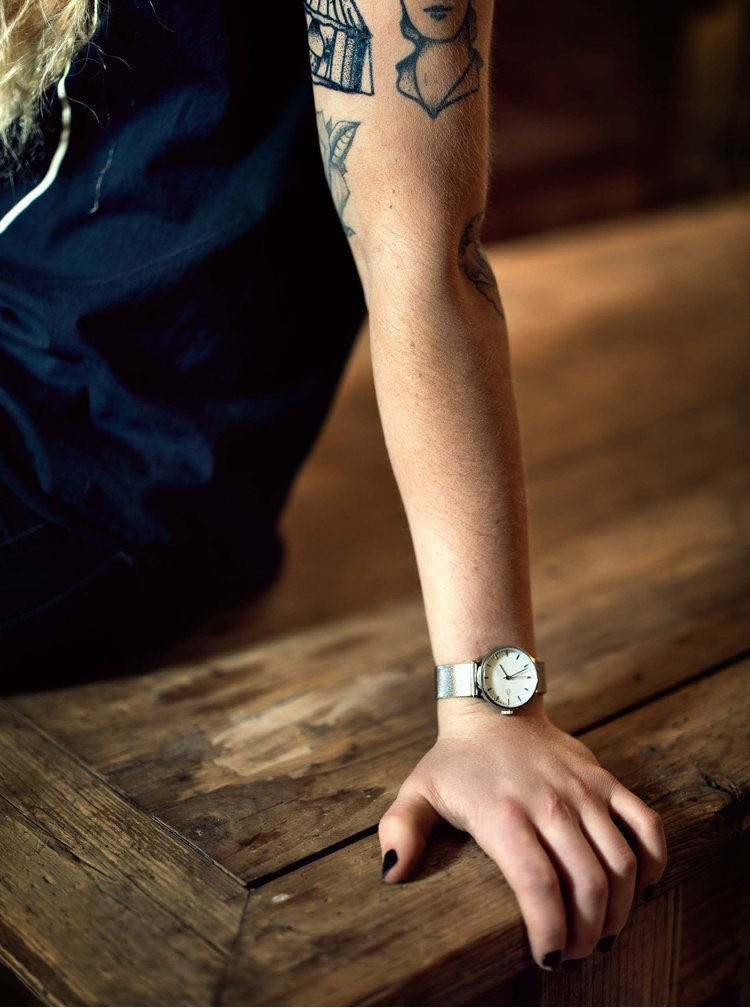 Ceas de dama argintiu CHPO Nando Mini Silver