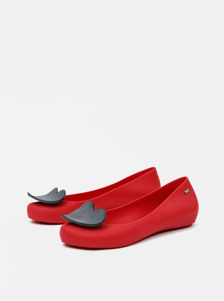 Balerini, mocasini pentru femei Zaxy - rosu