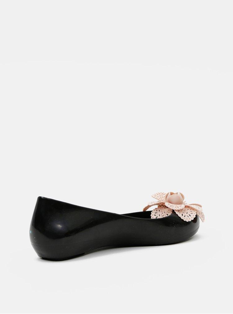 Čierne dámske baleríny Zaxy