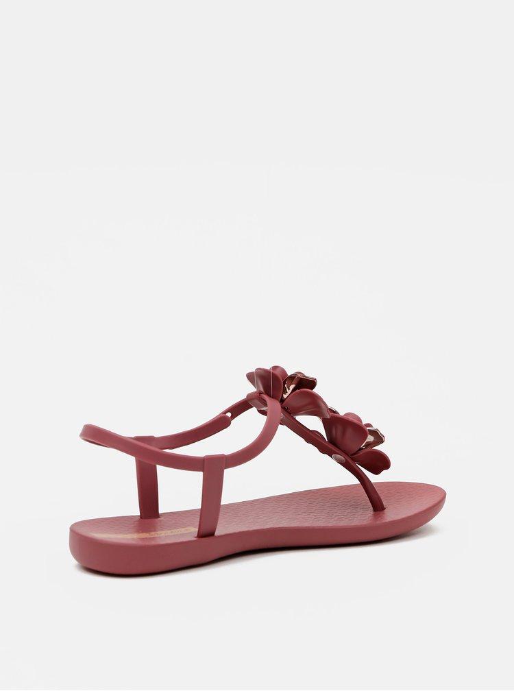 Vínové dámské sandály Ipanema