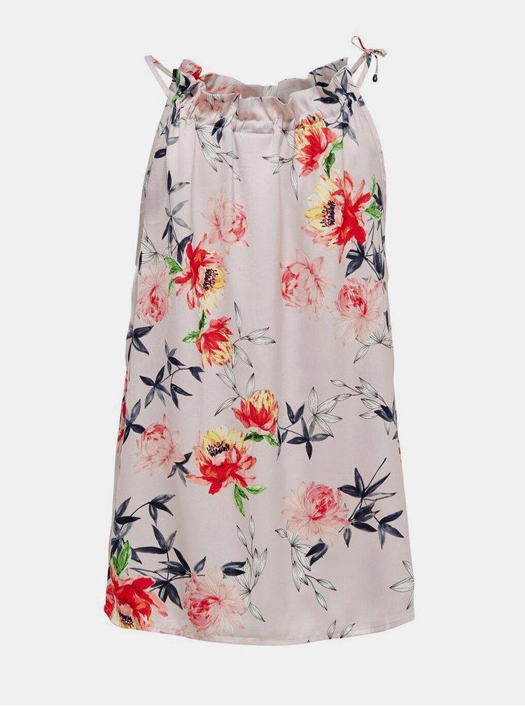 Růžový květovaný top Jacqueline de Yong
