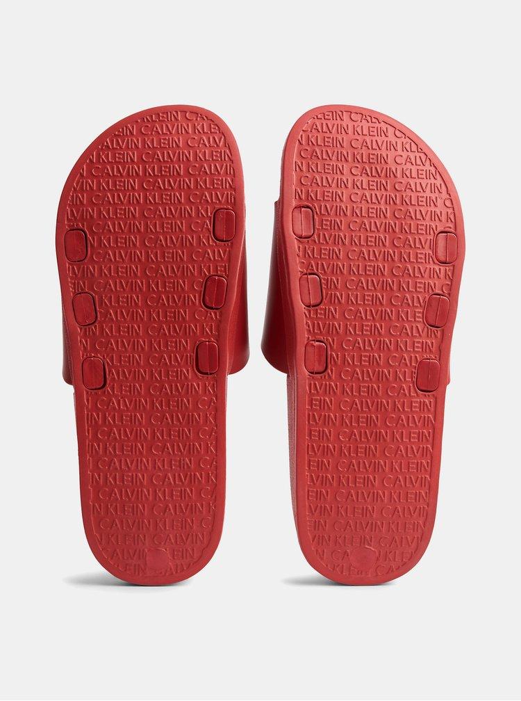 Červené pánské pantofle Calvin Klein Underwear