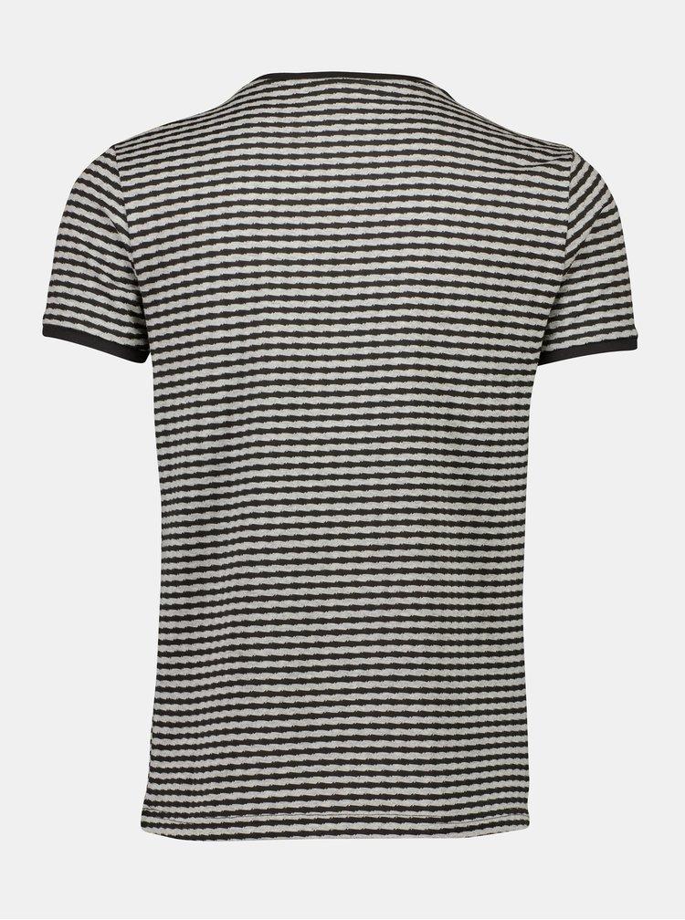 Šedé pruhované tričko Lindbergh