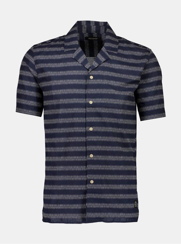 Tricouri cu maneca scurta pentru barbati Shine Original - albastru inchis