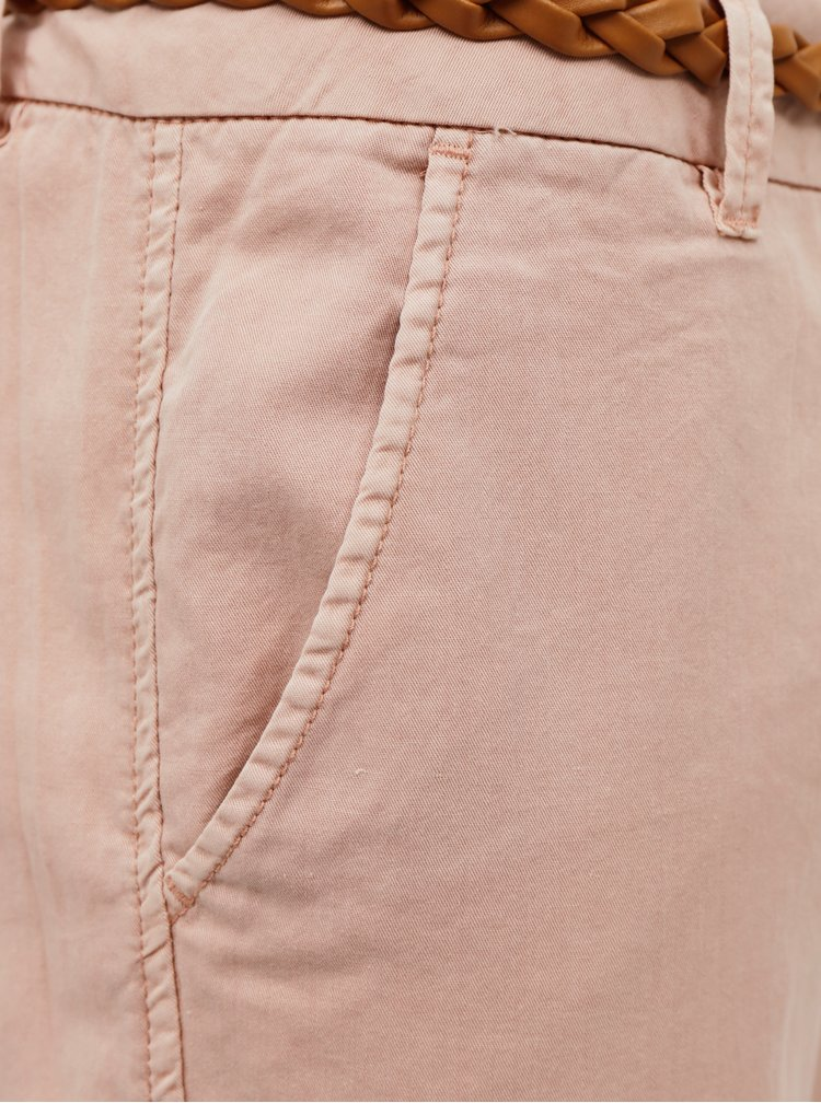Svetloružové nohavice VERO MODA
