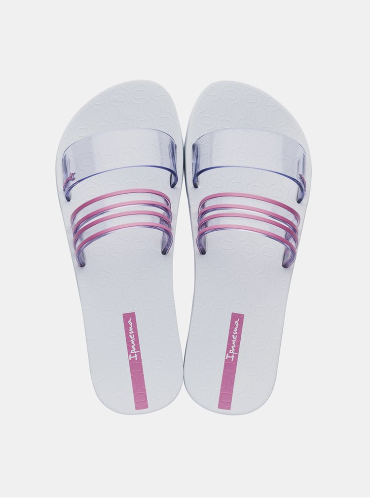 Bílo-růžové dámské pantofle Ipanema