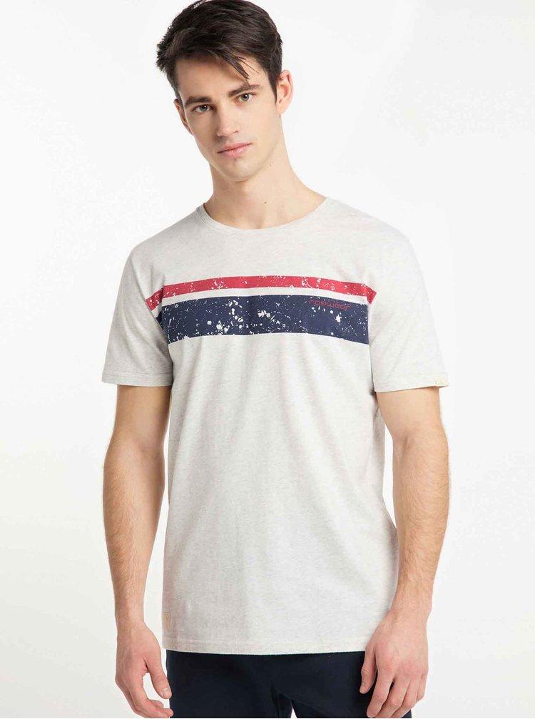 Světle šedé pánské tričko s potiskem Ragwear Hake Organic