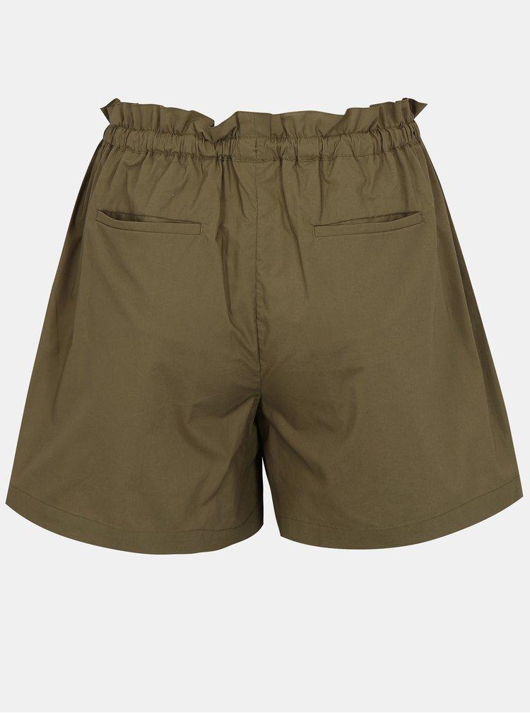 Pantaloni scurti kaki cu talie inalta -  Scotch & Soda