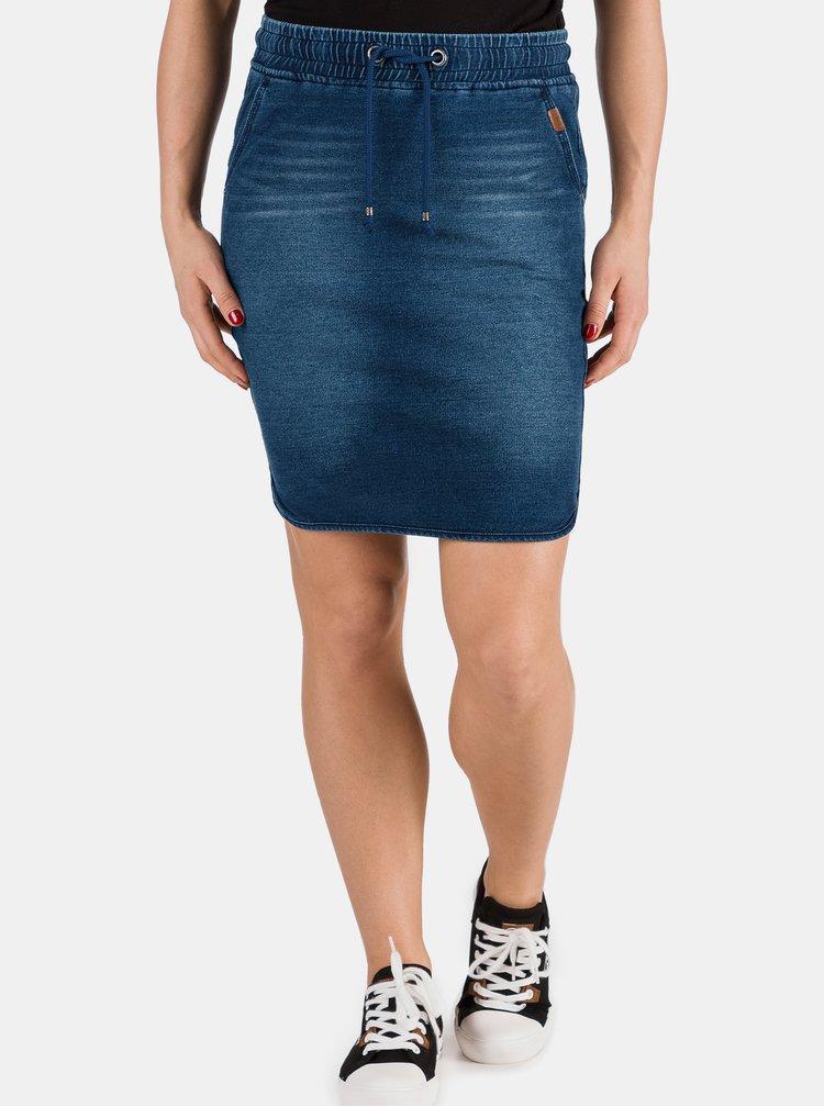 Tmavě modrá dámská džínová sukně SAM 73