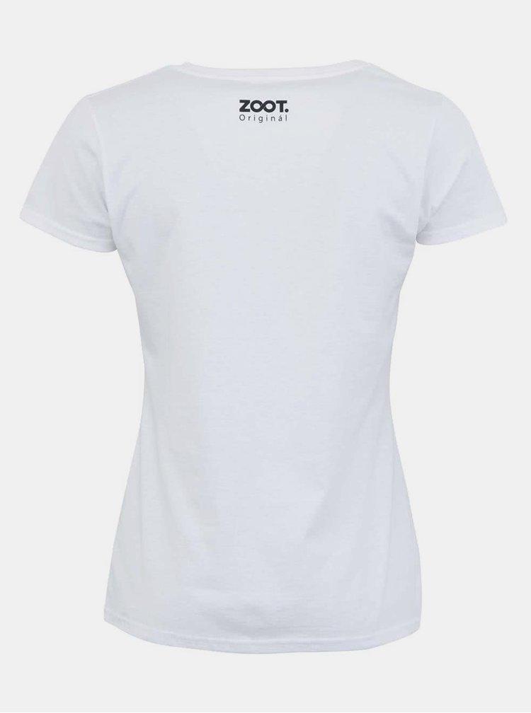 Tricou ZOOT Original Find the Way alb de dama
