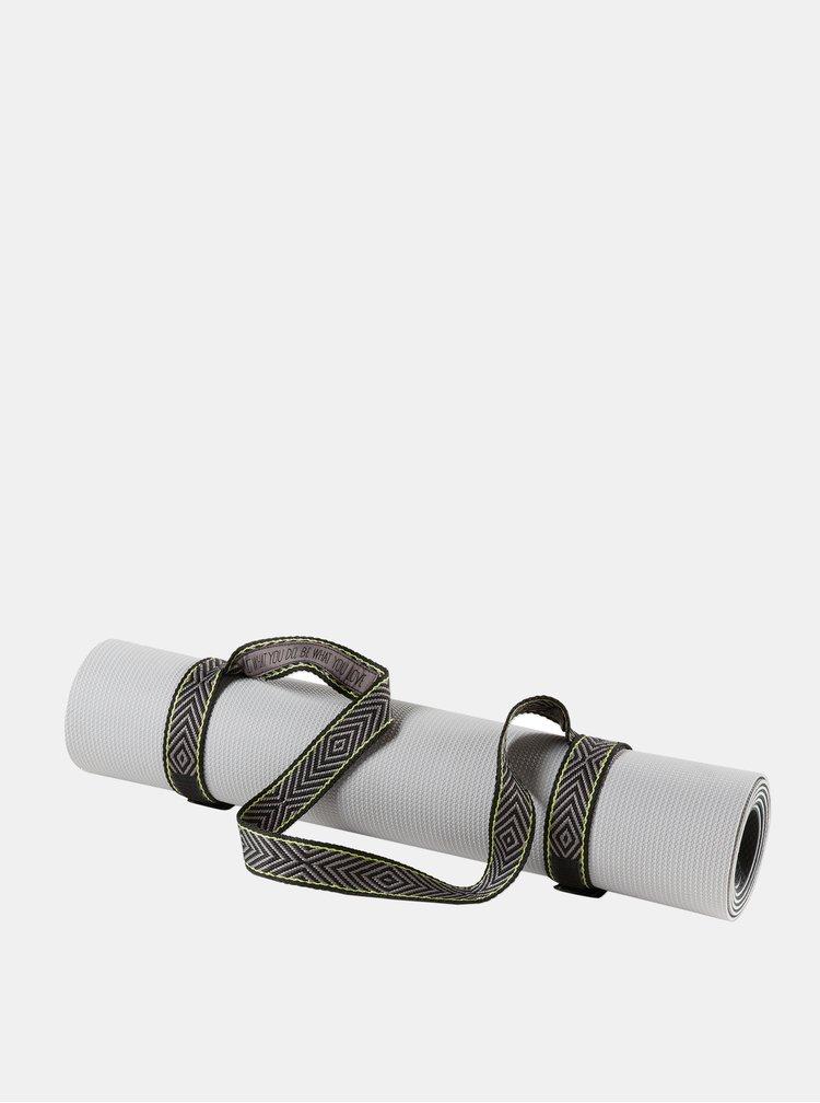 Černá gumička na podložku na jógu prAna