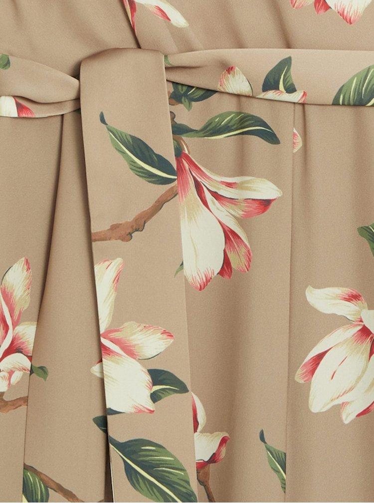 Béžový květovaný overal Mango Flopi