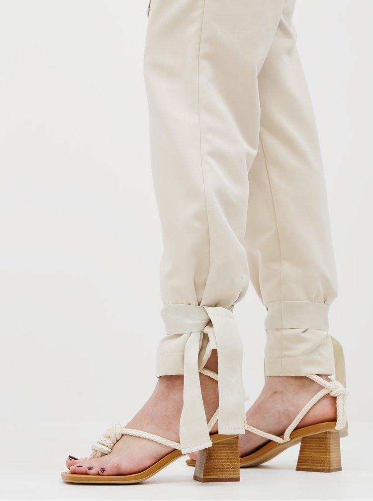 Pantaloni chino pentru femei AWARE by VERO MODA - bej