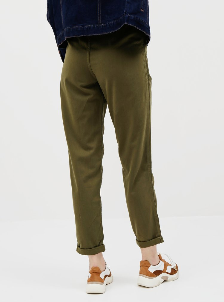 Pantaloni chino pentru femei Miss Selfridge - kaki