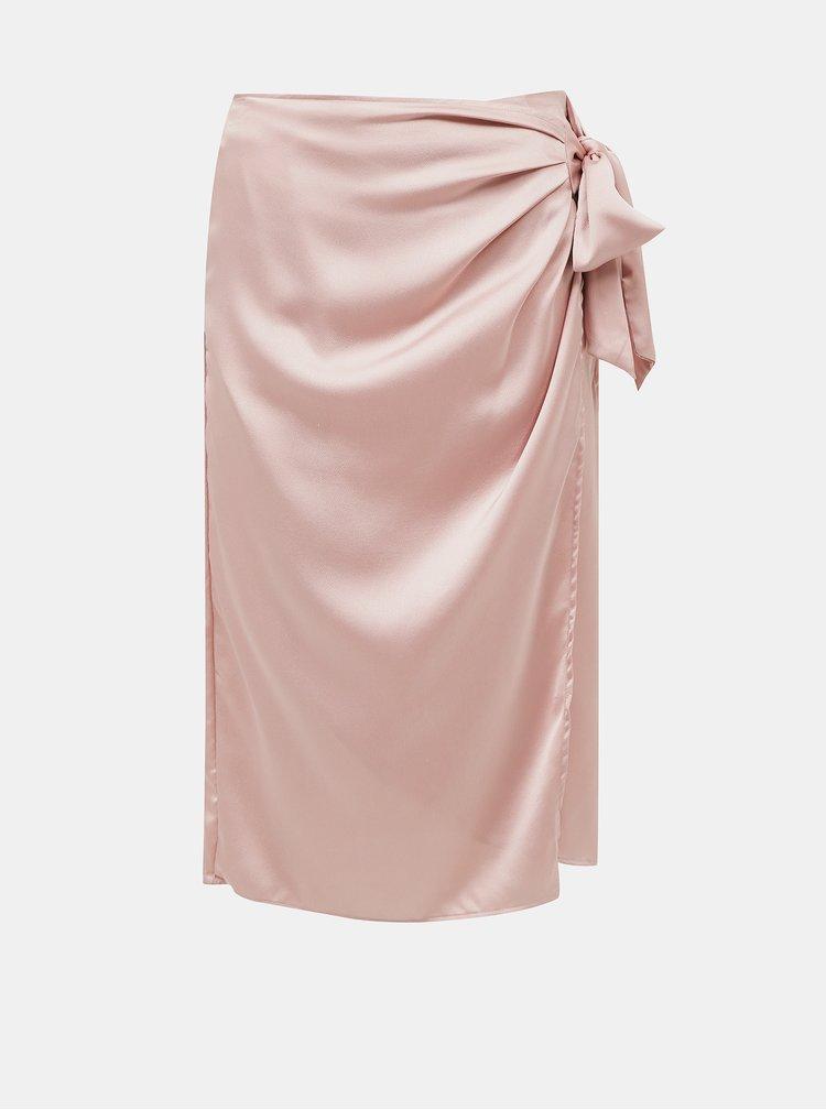 Růžová zavinovací sukně VILA Akvaralla