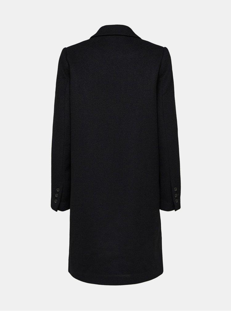Čierny vlnený kabát Selected Femme Sasja