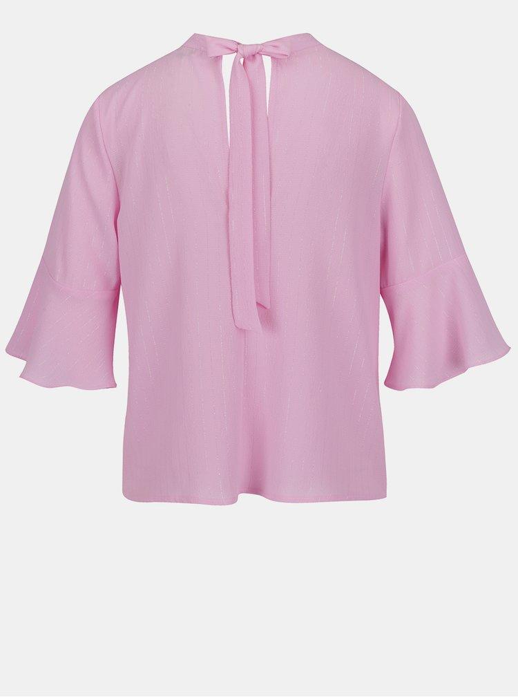Růžová halenka se zavazováním na zádech Miss Selfridge