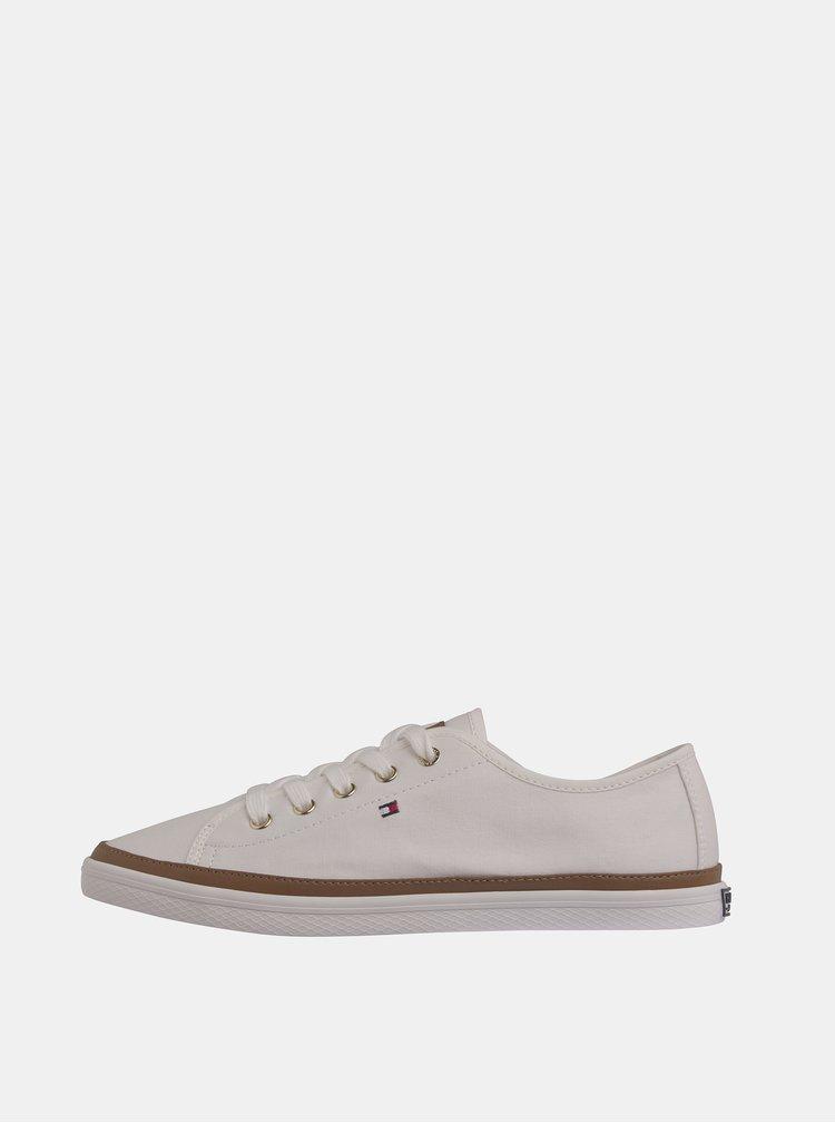 Pantofi sport si tenisi pentru femei Tommy Hilfiger - crem