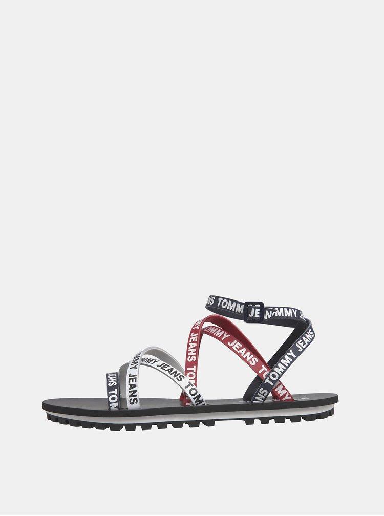 Červeno-modré dámské kožené sandály Tommy Hilfiger